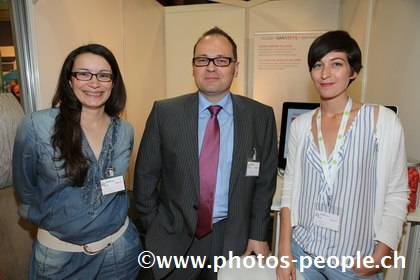 Carole Beati, Christophe Arn (Smarsys) et Julie Knezevic (SCAN  Sàrl)